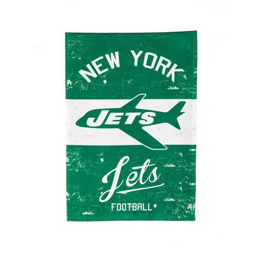 14L3821VINT: EG Vintage Linen Garden Flag, New York Jets