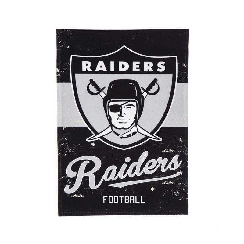 14L3822VINT: EG Vintage Linen Garden Flag, Raiders
