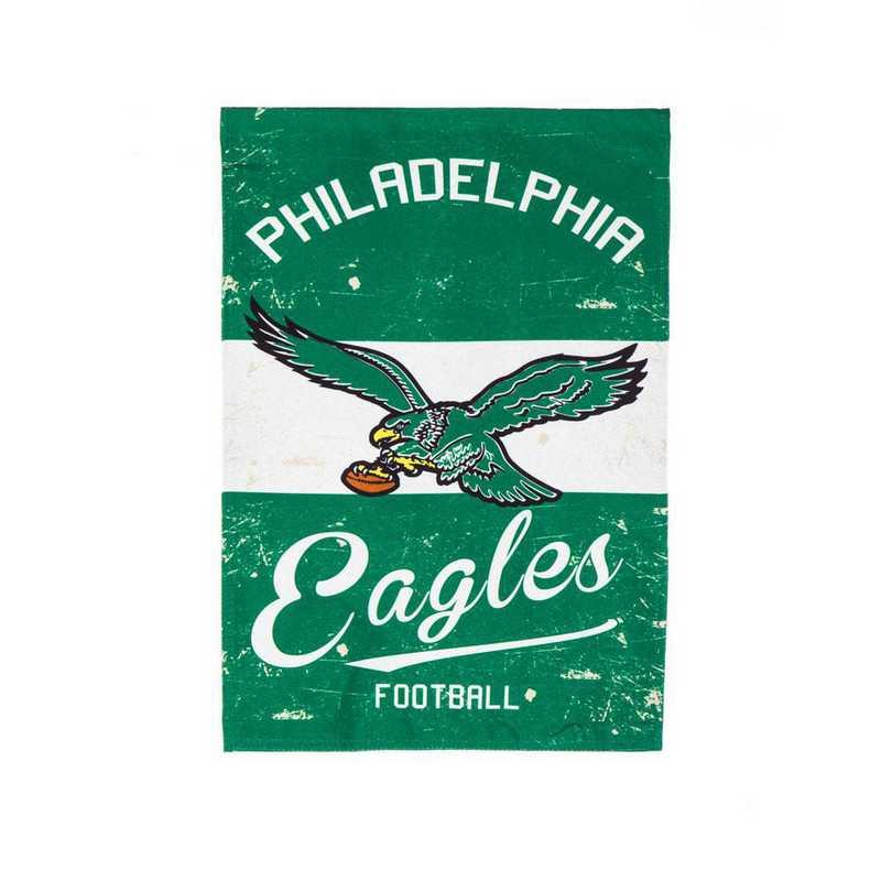 14L3823VINT: EG Vintage Linen Garden Flag, Philadelphia Eagles