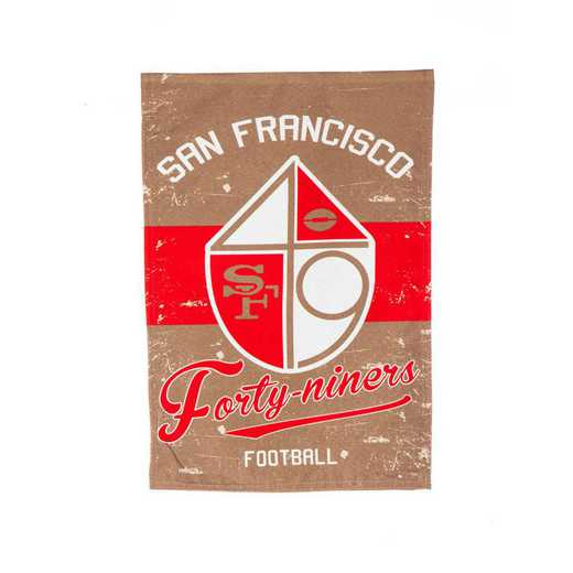 14L3826VINT: EG Vintage Linen Garden Flag, San Francisco 49ers
