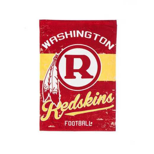 14L3831VINT: EG Vintage Linen Garden Flag, Washington Redskins