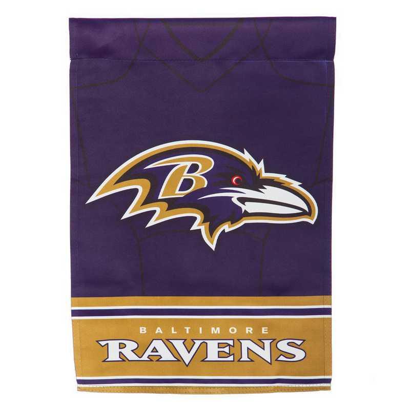 14S3802BLJ: ES Foil Jersey Garden Flag, Baltimore Ravens