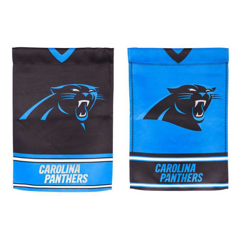 14S3804BLJ: ES Foil Jersey Garden Flag, Carolina Panthers