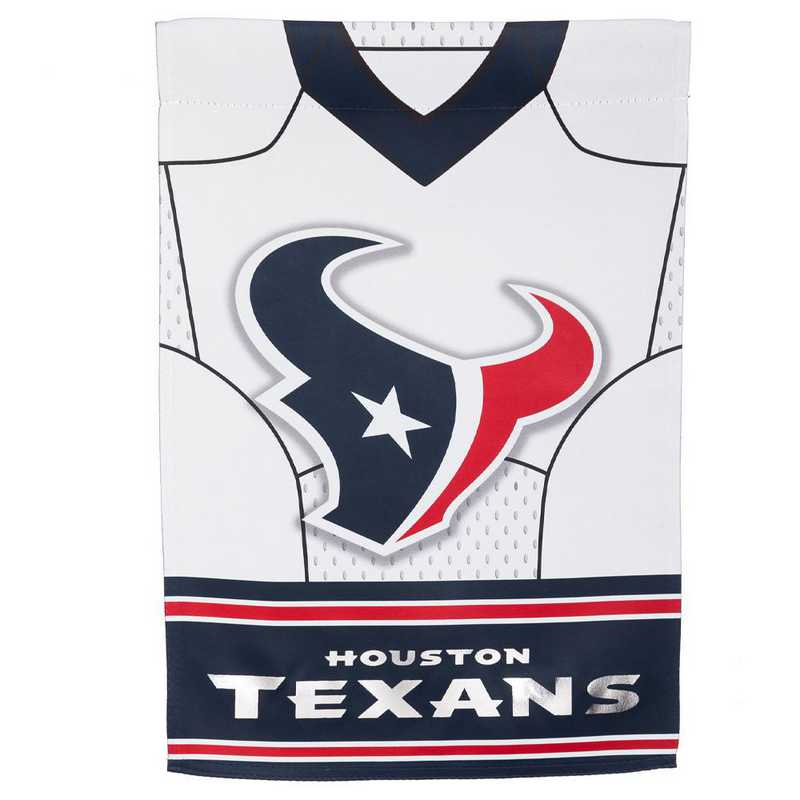 14S3812BLJ: ES Foil Jersey Garden Flag, Houston Texans