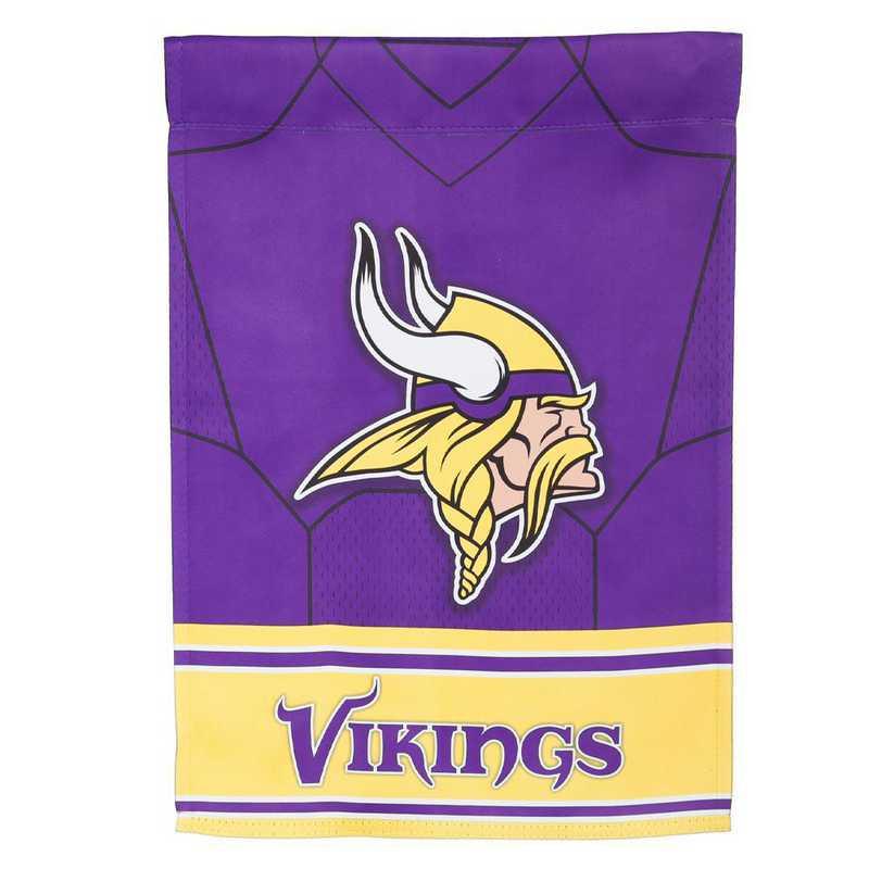 14S3817BLJ: ES Foil Jersey Garden Flag, Minnesota Vikings