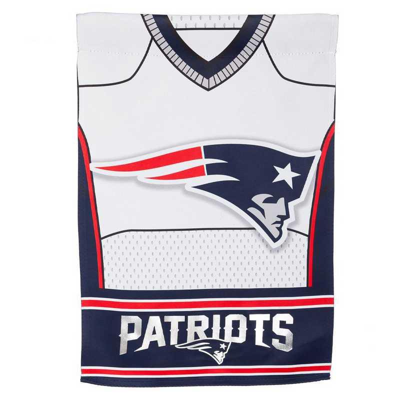 14S3818BLJ: ES Foil Jersey Garden Flag, New England Patriots