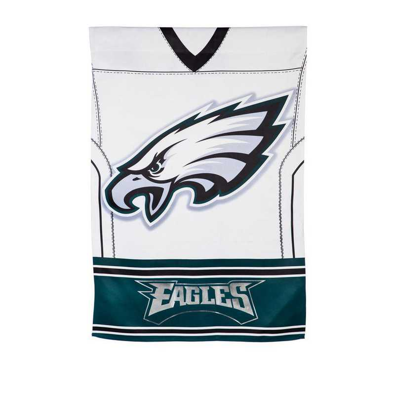 14S3823BLJ: ES Foil Jersey Garden Flag, Philadelphia Eagles