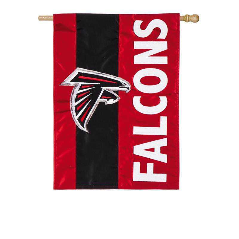 15SF3801: EG Embellished Flag, Atlanta Falcons