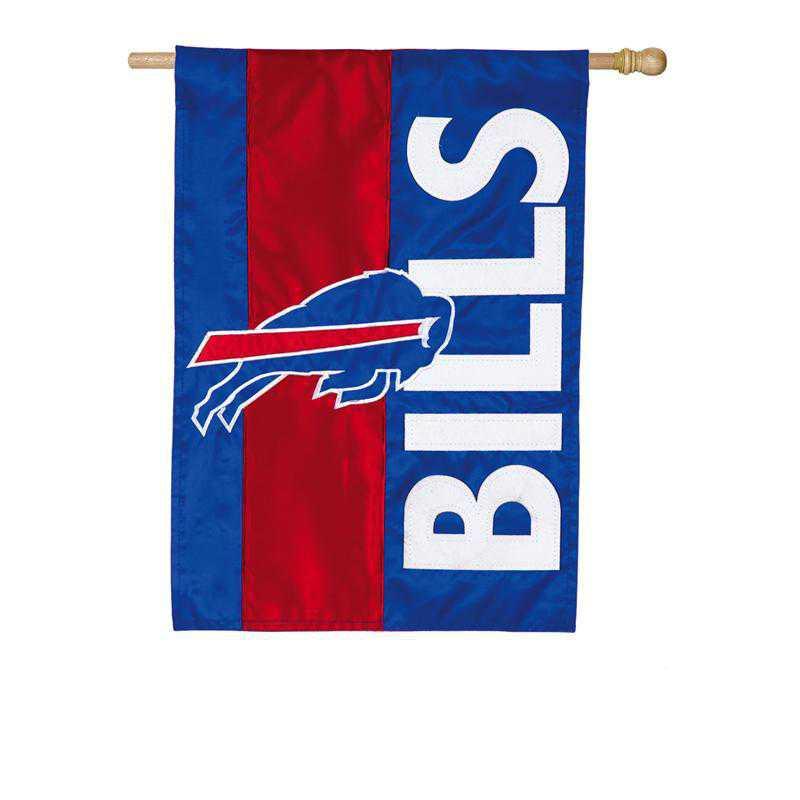 15SF3803: EG Embellished Flag, Buffalo Bills