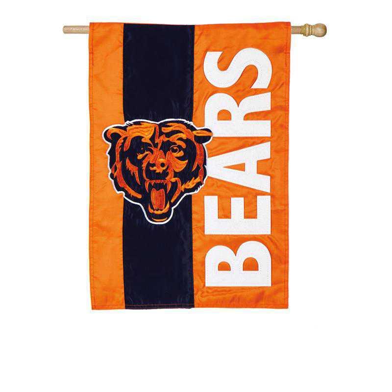 15SF3805: EG Embellished Flag, Chicago Bears