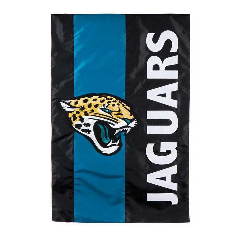 15SF3814: EG Embellished Flag, Jacksonville Jaguars