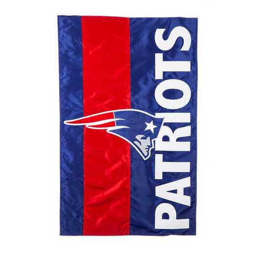 15SF3818: EG Embellished Flag, New England Patriots