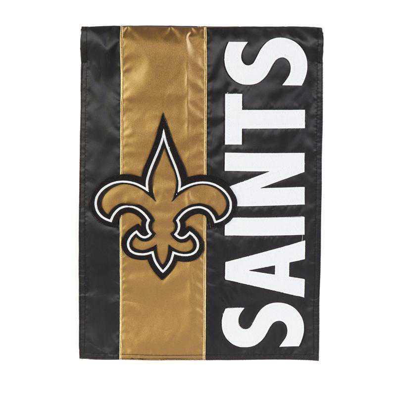 15SF3819: EG Embellished Flag, New Orleans Saints