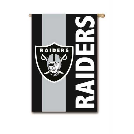 15SF3822: EG Embellished Flag, Oakland Raiders