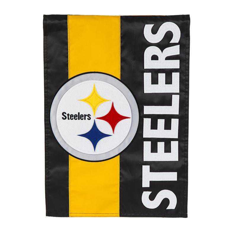 15SF3824: EG Embellished Flag, Pittsburgh Steelers