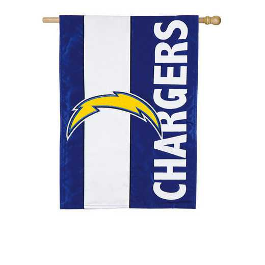 15SF3825: EG Embellished Flag, Los Angeles Chargers