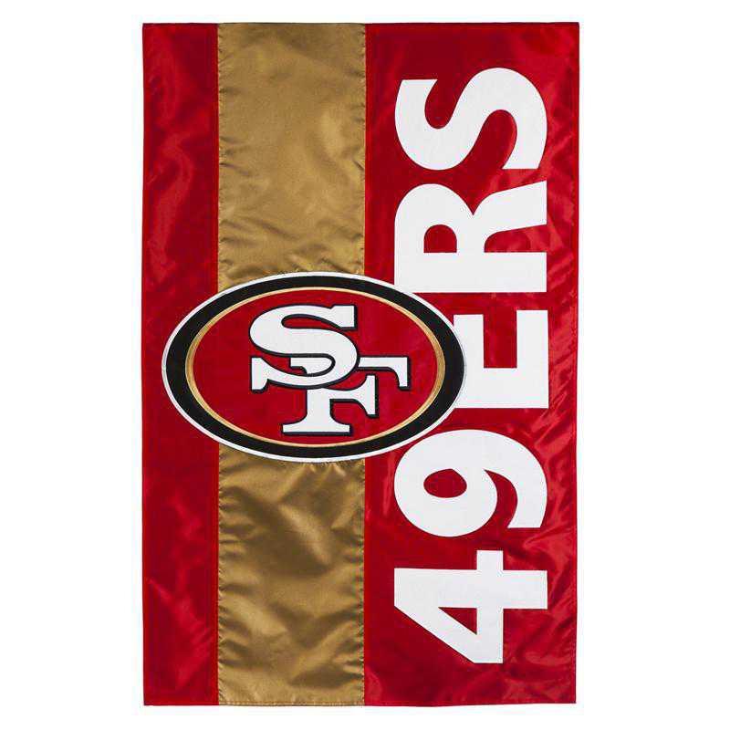 15SF3826: EG Embellished Flag, San Francisco 49ers