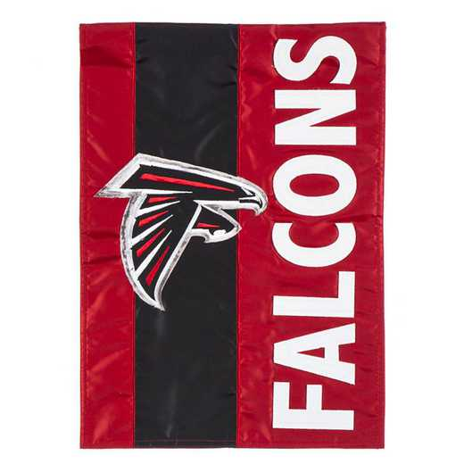 16SF3801: EG Embellished Garden Flag, Atlanta Falcons