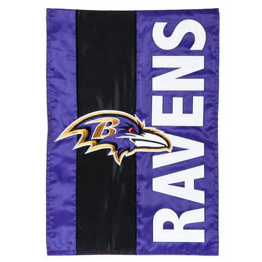 16SF3802: EG Embellished Garden Flag, Baltimore Ravens