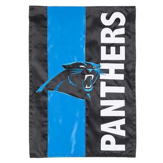 16SF3804: EG Embellished Garden Flag, Carolina Panthers