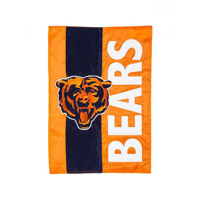 16SF3805: EG Embellished Garden Flag, Chicago Bears
