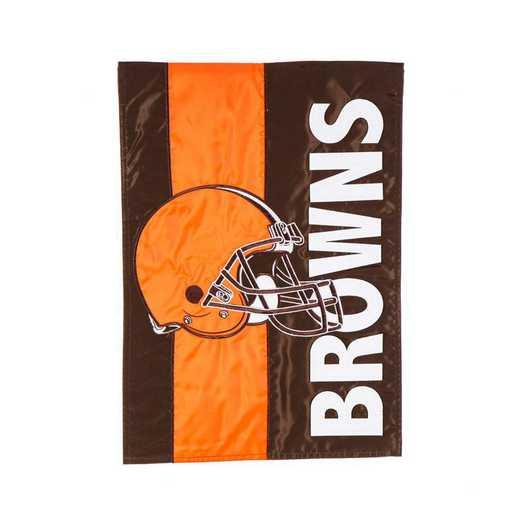 16SF3807: EG Embellished Garden Flag, Cleveland Browns