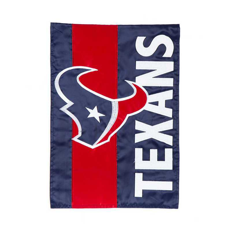16SF3812: EG Embellished Garden Flag, Houston Texans