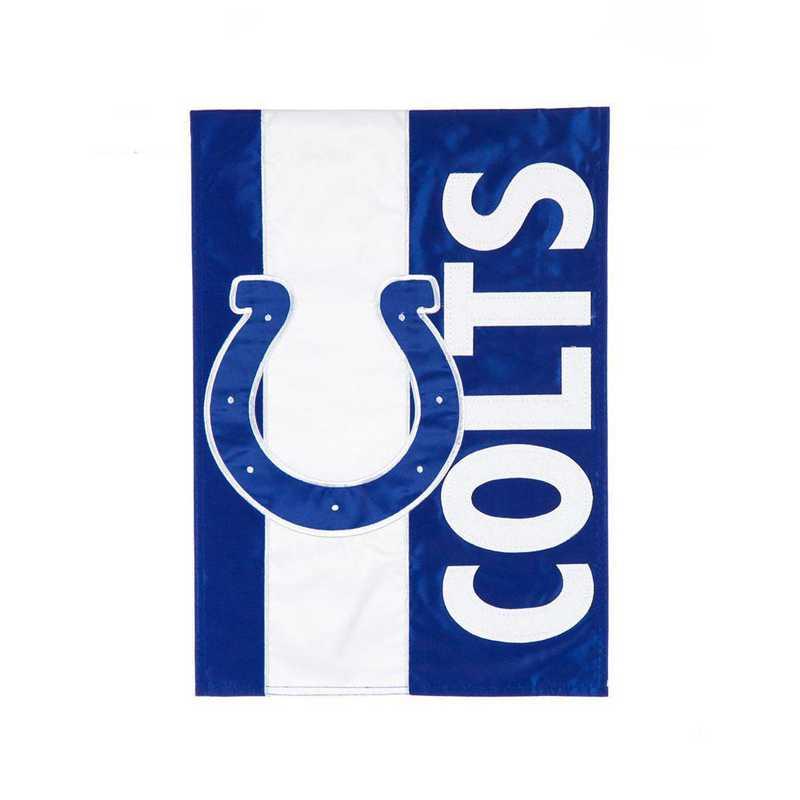 16SF3813: EG Embellished Garden Flag, Indianapolis Colts