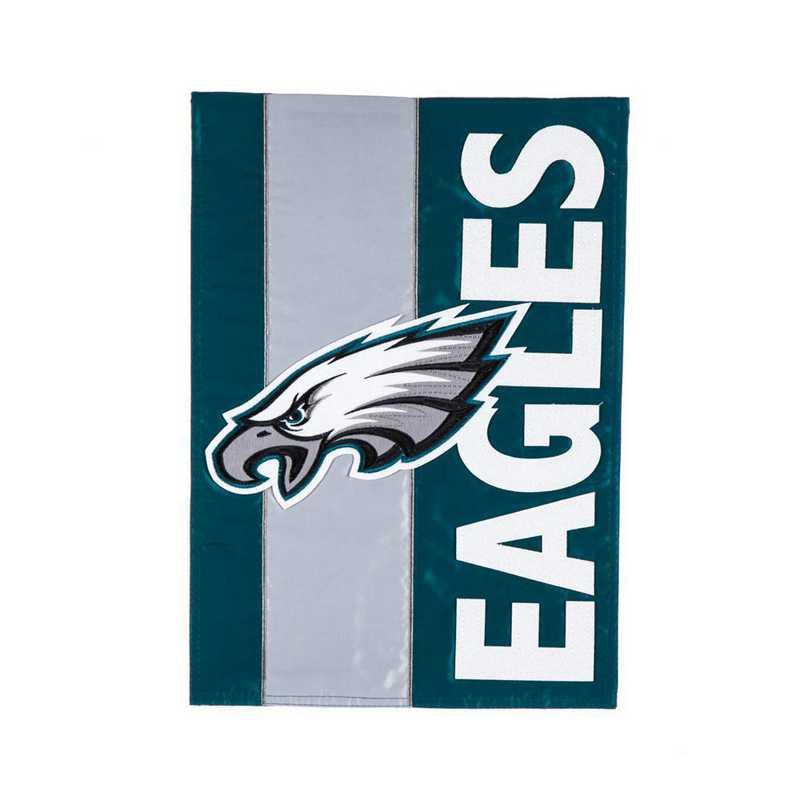 16SF3823: EG Embellished Garden Flag, Philadelphia Eagles
