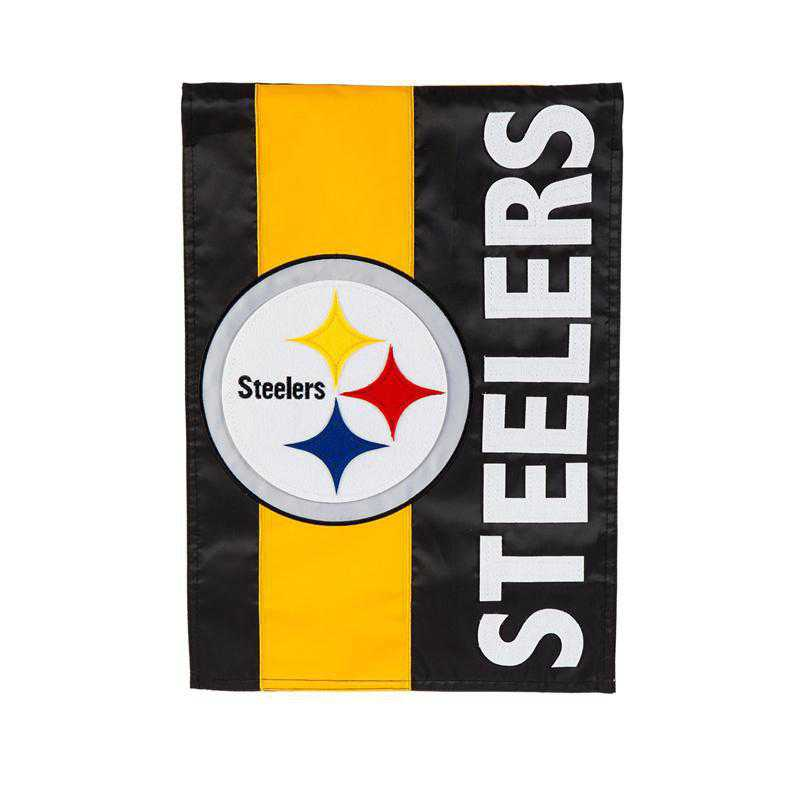 16SF3824: EG Embellished Garden Flag, Pittsburgh Steelers