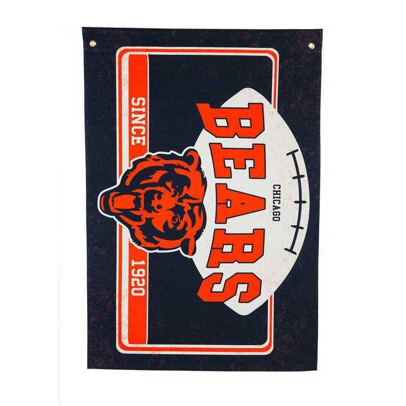 17L3805: EG Linen Estate Flag, Chicago Bears