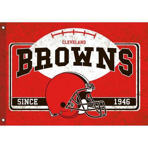 17L3807: EG Linen Estate Flag, Cleveland Browns