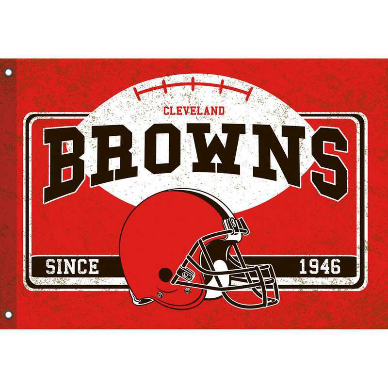 17L3807: EG Linen Estate Flag, Cleveland Browns