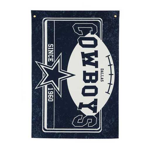 17L3808: EG Linen Estate Flag, Dallas Cowboys