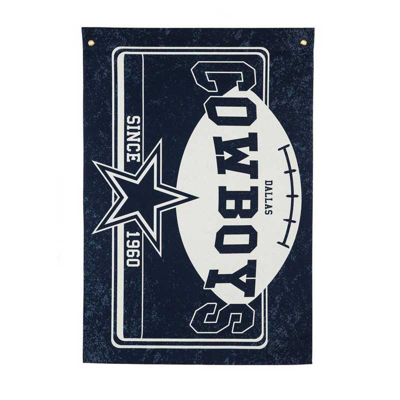 17L3808: EG Linen Estate Flag, Dallas Cowboys