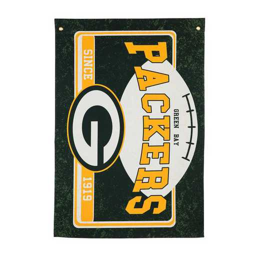17L3811: EG Linen Estate Flag, Green Bay Packers