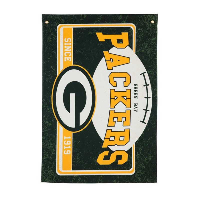 17L3811: EG Linen Estate Flag, Green Bay Packers