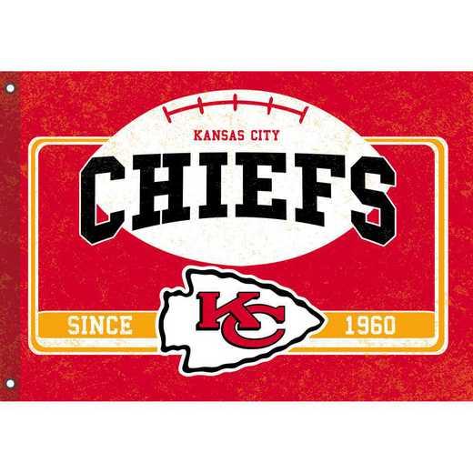 17L3815: EG Linen Estate Flag, Kansas City Chiefs