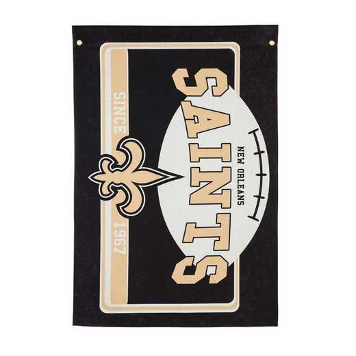 17L3819: EG Linen Estate Flag, New Orleans Saints
