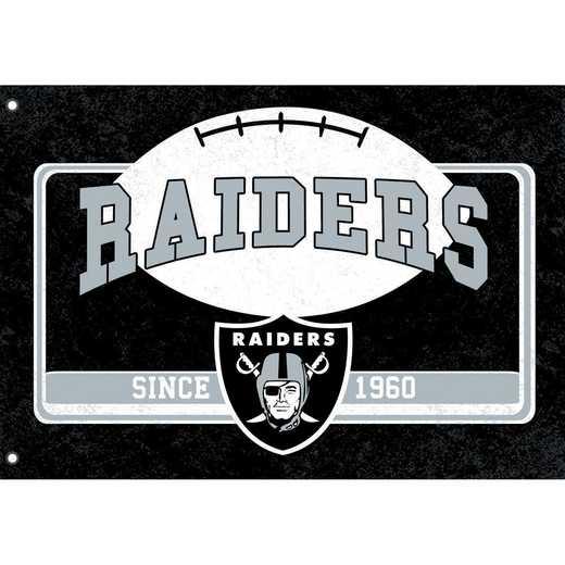 17L3822: EG Linen Estate Flag, Oakland Raiders