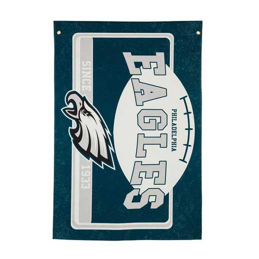 17L3823: EG Linen Estate Flag, Philadelphia Eagles