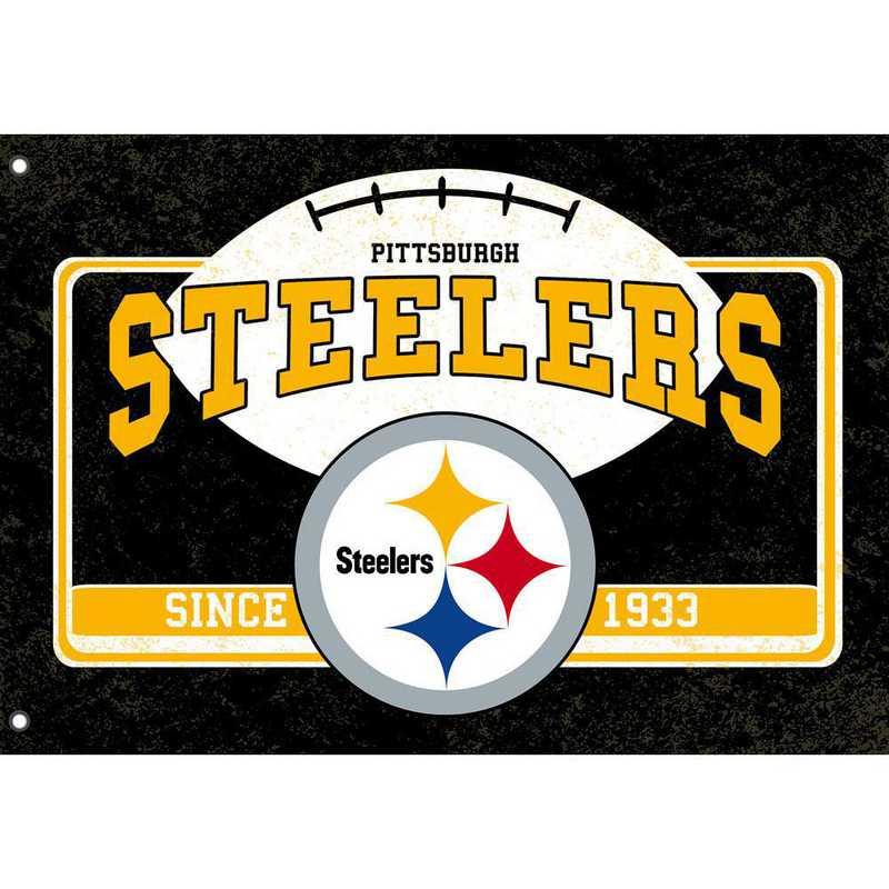 17L3824: EG Linen Estate Flag, Pittsburgh Steelers