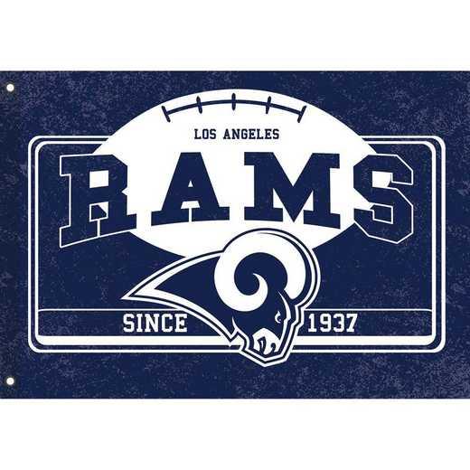 17L3828: EG Linen Estate Flag, Los Angeles Rams