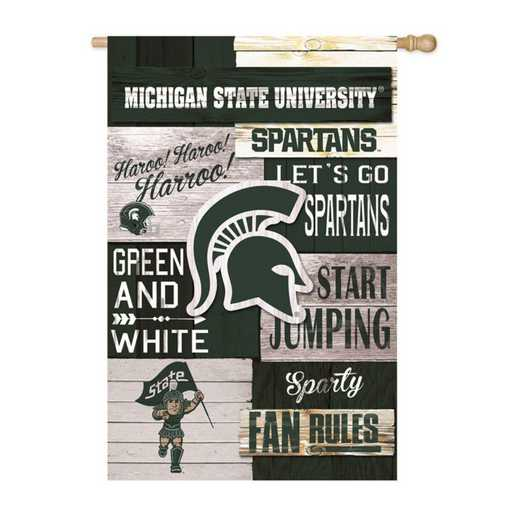 13L971FR: EG Michigan State LINEN FLAG