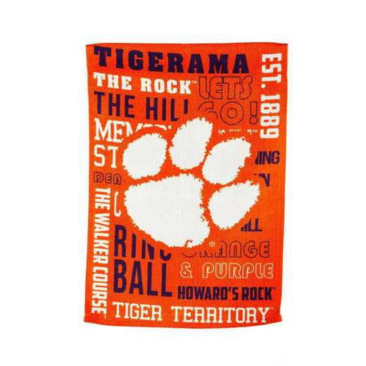 14ES912FR: EG Clemson Fan Rules Garden Flag