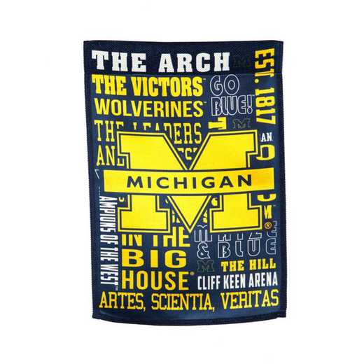 14ES920FR: EG Michigan Fan Rules Garden Flag