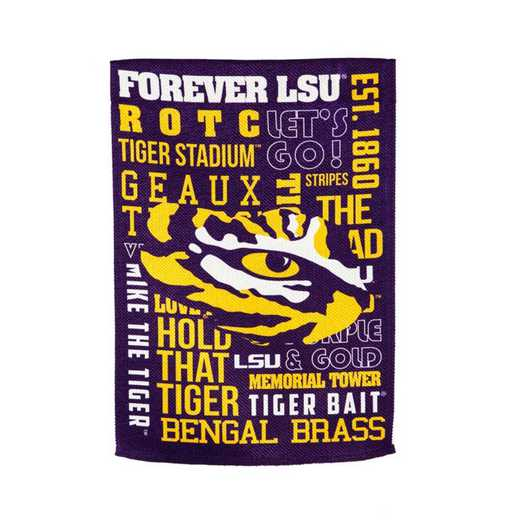 14ES921FR: EG LSU Fan Rules Garden Flag