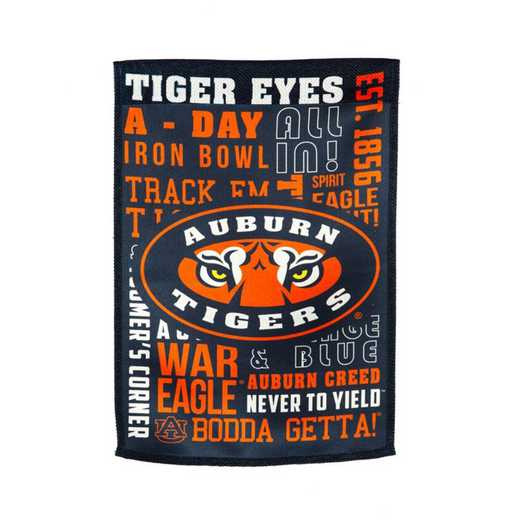 14ES928FR: EG Auburn Fan Rules Garden Flag