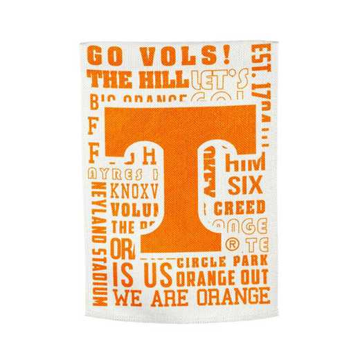 14ES955FR: EG Tennessee Fan Rules Garden Flag