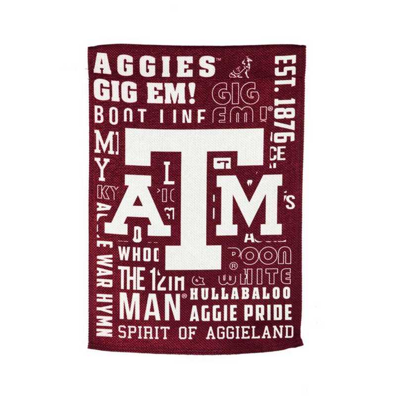 14ES969FR: EG Texas A&M Fan Rules Garden Flag